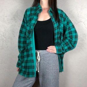 Vintage Oversized Flannel Button Down Shirt